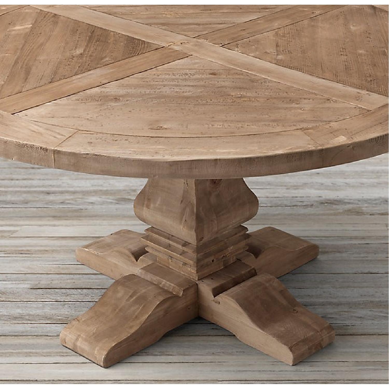Restoration Hardware Salvaged Wood Round Dining Table-1