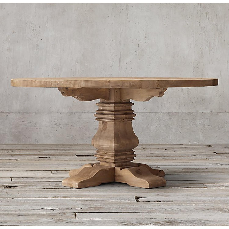 Restoration Hardware Salvaged Wood Round Dining Table-2