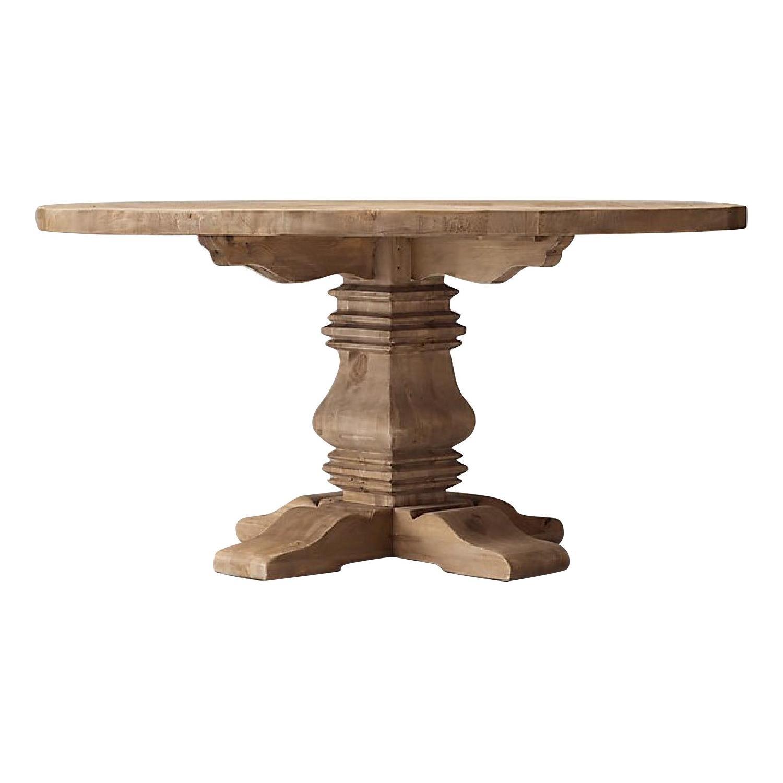 Restoration Hardware Salvaged Wood Round Dining Table
