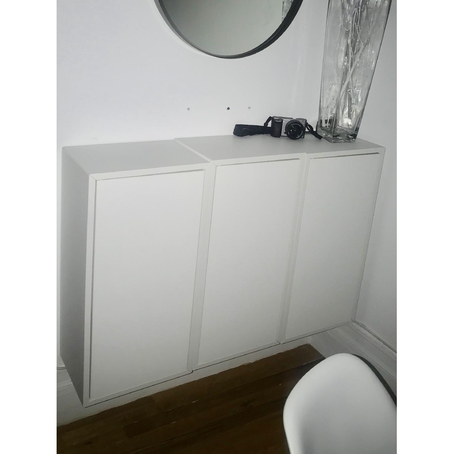 Ikea Eket Cabinet w/ Door & 2 Shelves-0