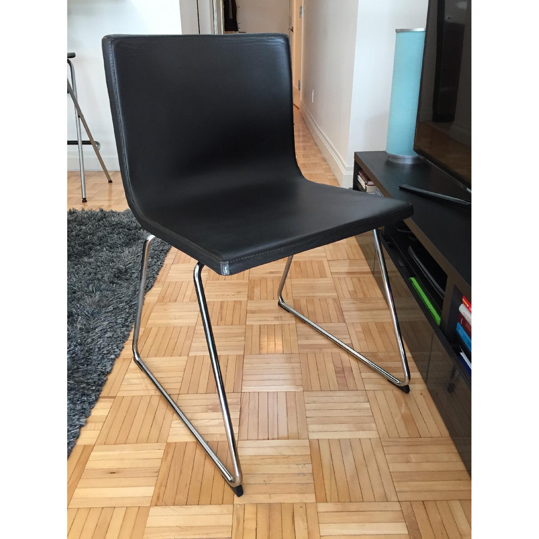 Ikea Bernard Black Leather Chair-0