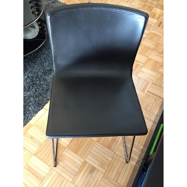 Ikea Bernard Black Leather Chair-1