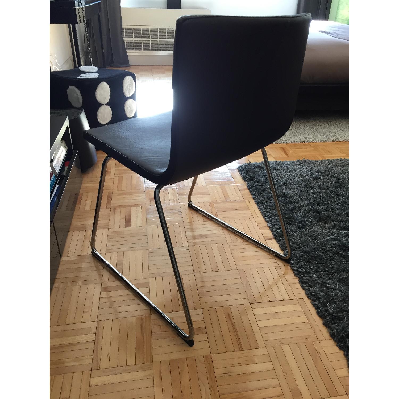 Ikea Bernard Black Leather Chair-2