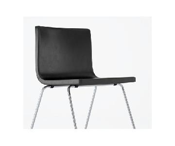 Ikea Bernard Black Leather Chair