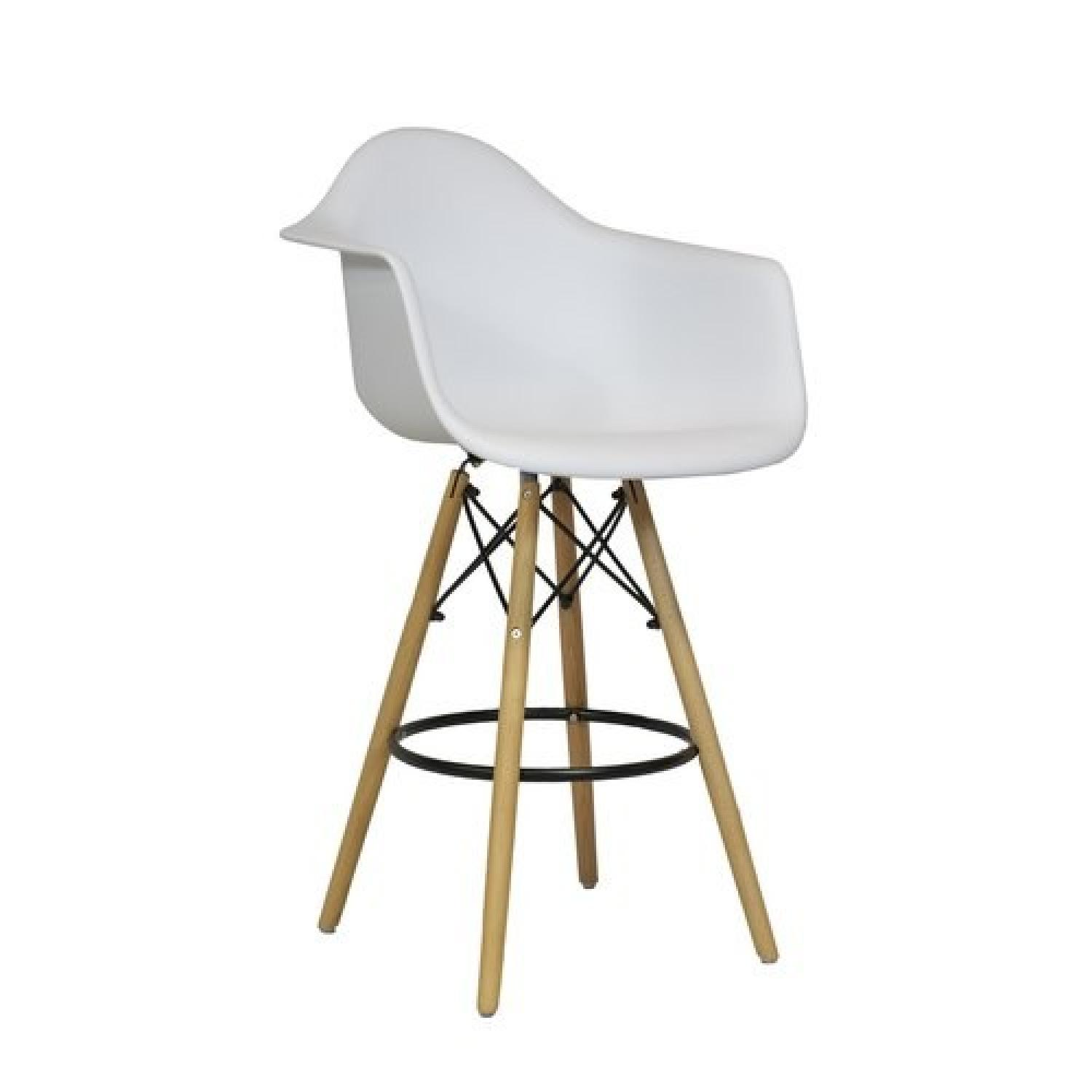 Design Tree Home White Eames Style Counter Stools