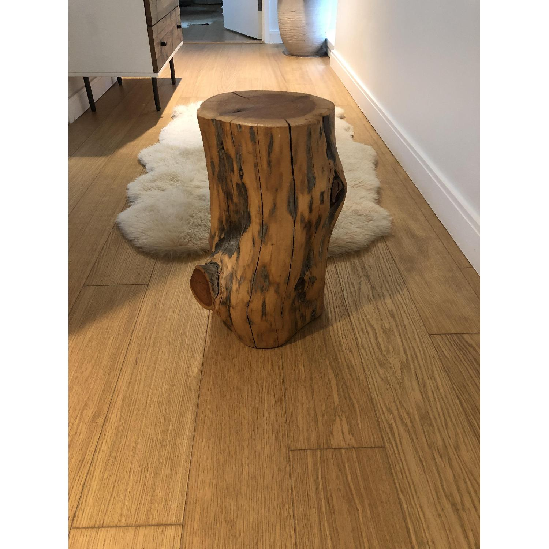 West Elm Tree Stump Side Table/Stool-0