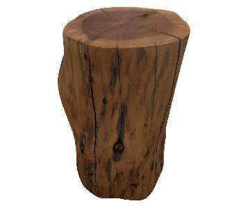 West Elm Tree Stump Side Table/Stool