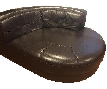 Raymour & Flanigan Leather Loveseat/Cottler