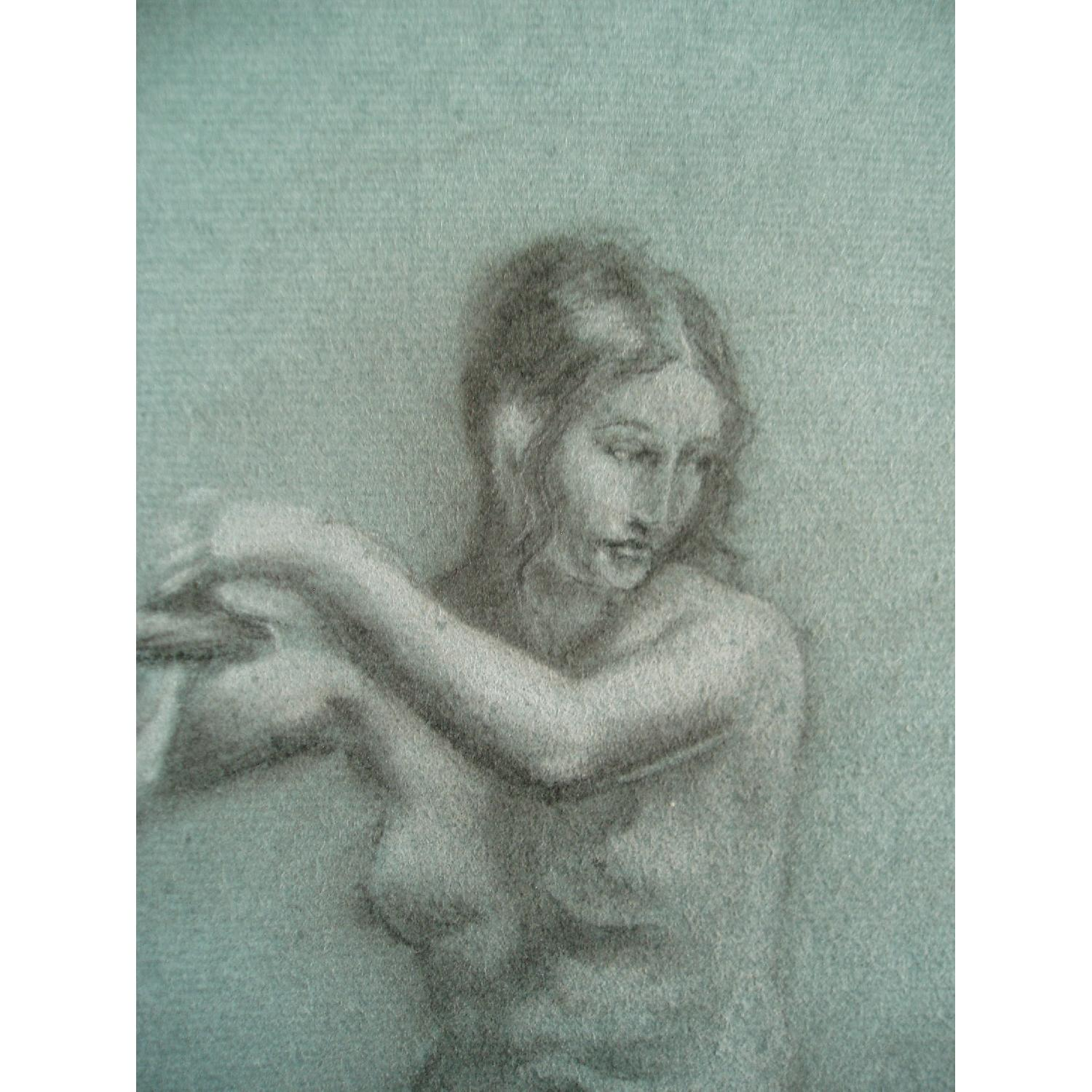 Pastel Conte Drawing Andromeda Chained-0