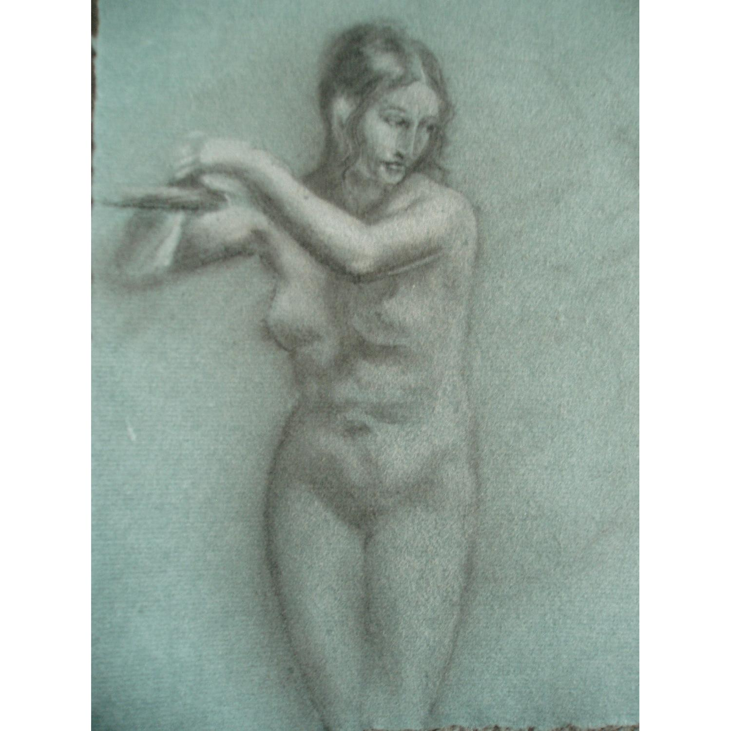 Pastel Conte Drawing Andromeda Chained