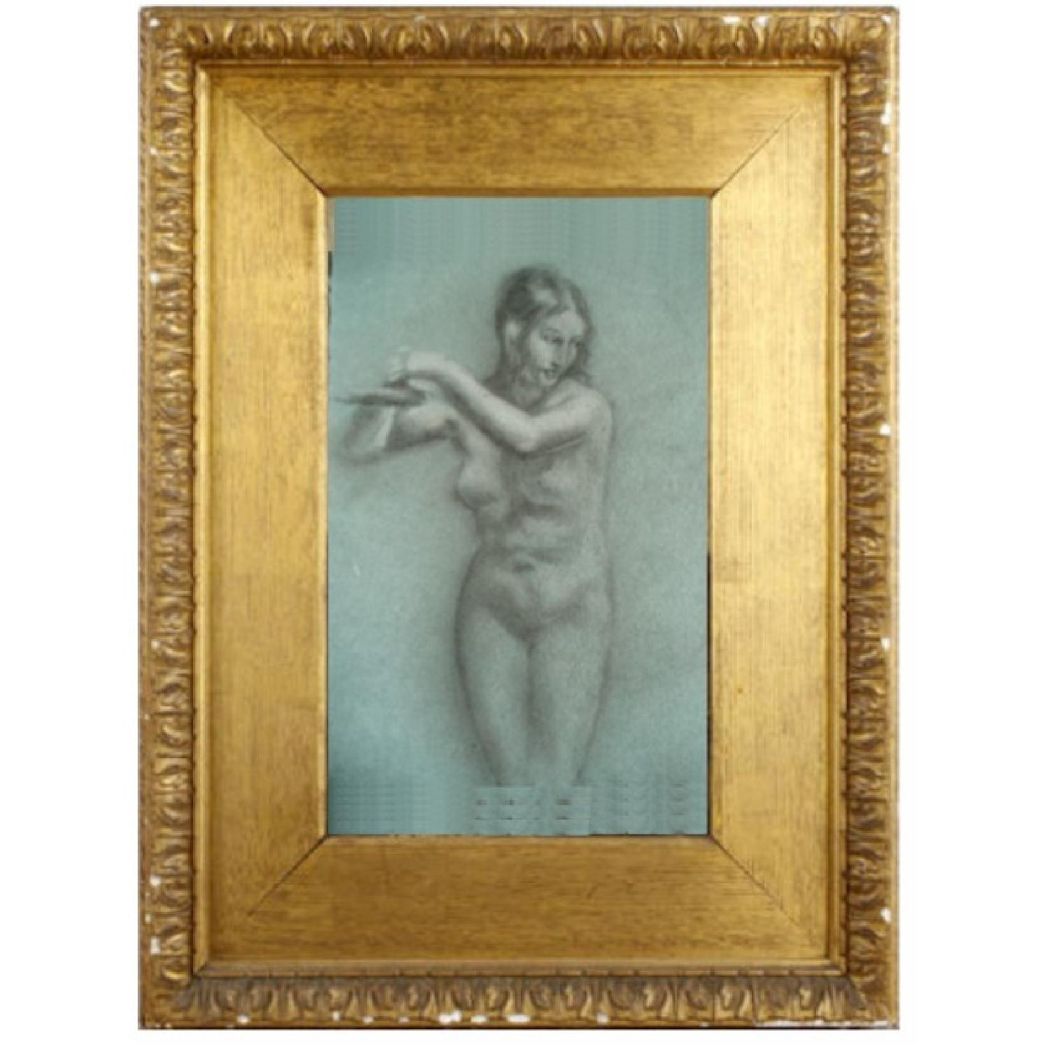 Pastel Conte Drawing Andromeda Chained-1