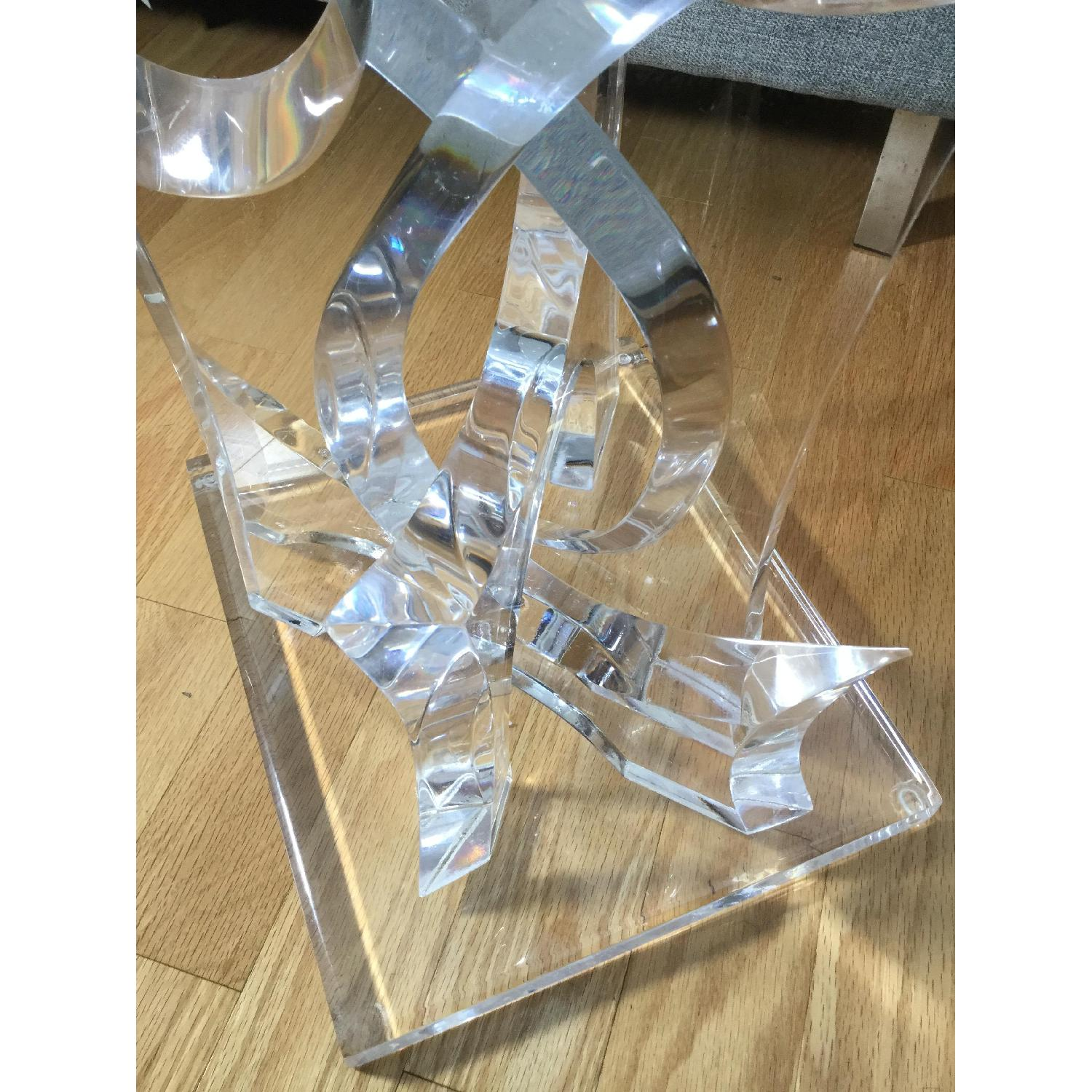 Mid-Century Van Teal Clear Lucite Abstract Sculpture-0