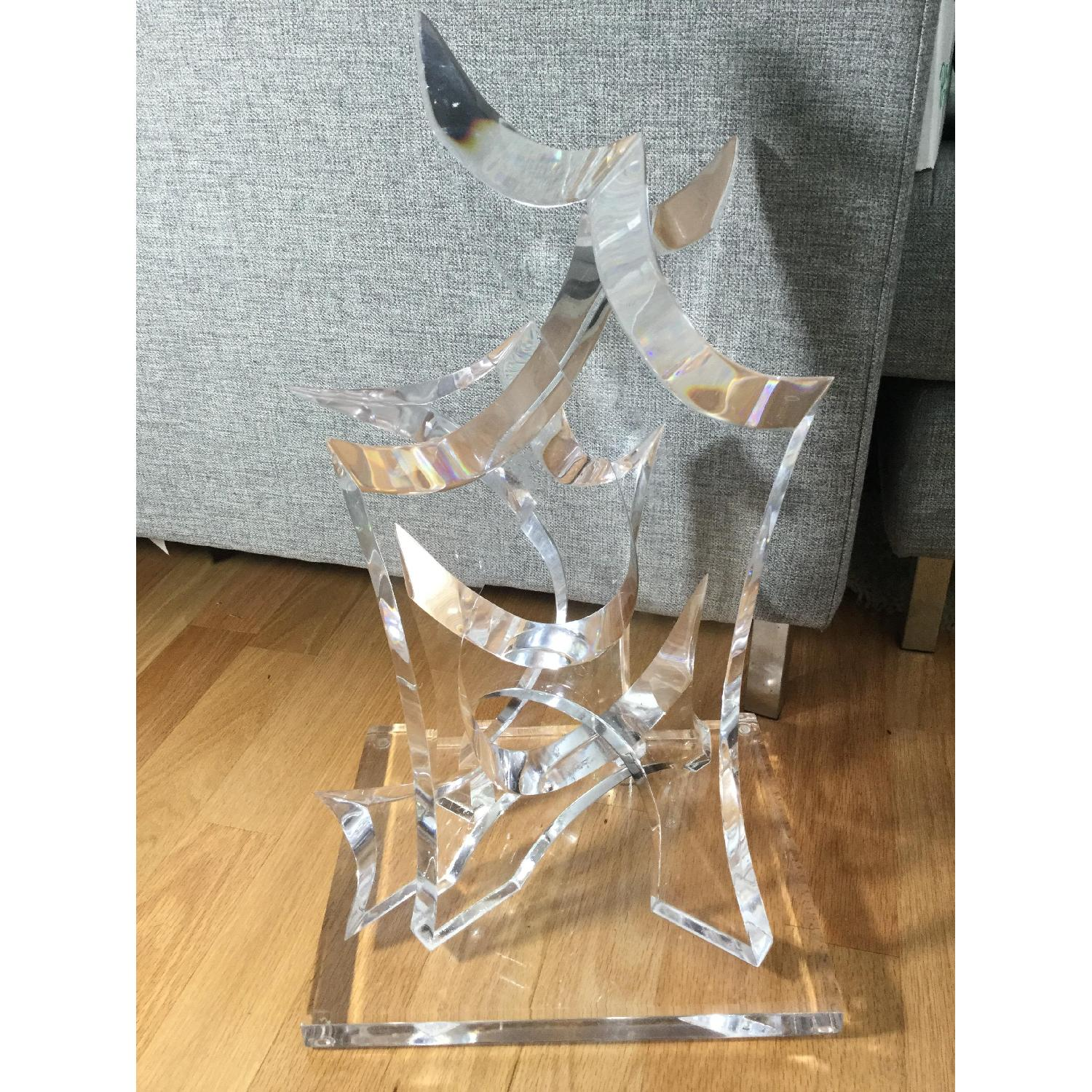 Mid-Century Van Teal Clear Lucite Abstract Sculpture-3