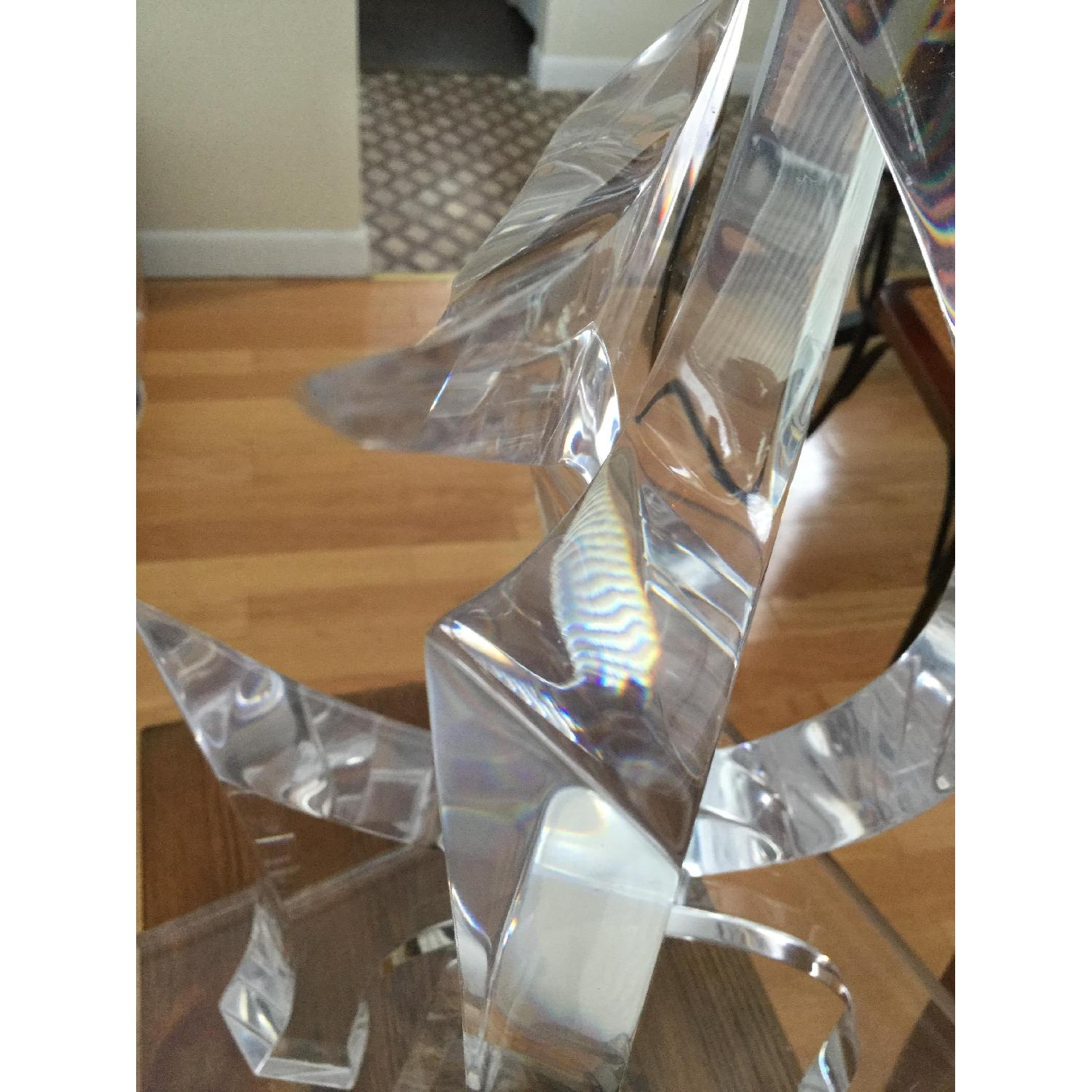 Mid-Century Van Teal Clear Lucite Abstract Sculpture-7