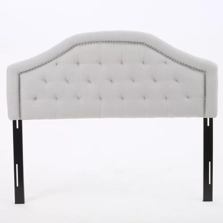 Willa Arlo Interiors Bridges Upholstered Panel Headboard-3
