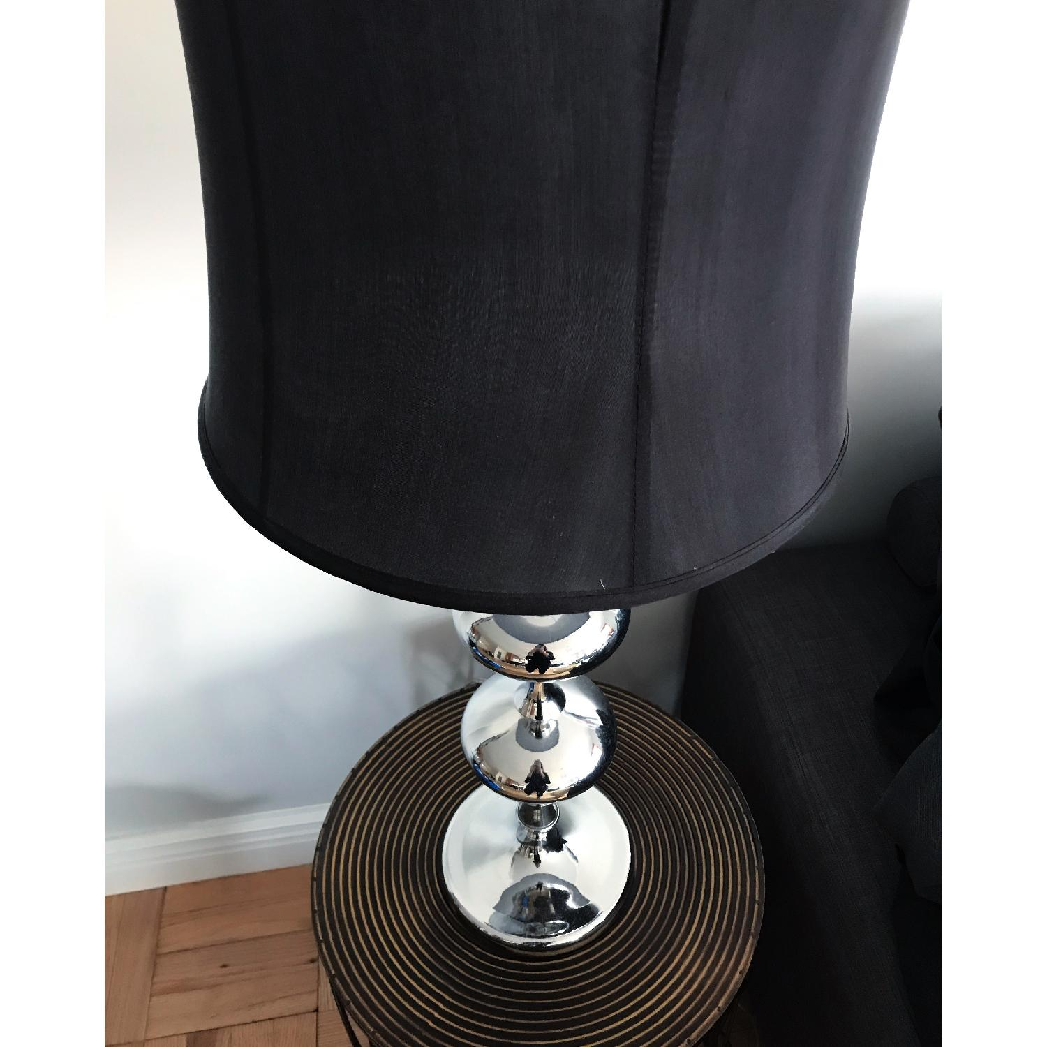 Three Hands Mod Black & Silver Table Lamp-2
