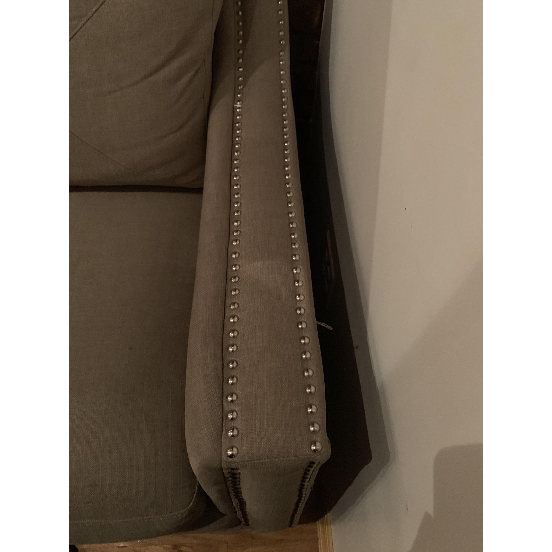 Bob's Beige Studded Sofa-3