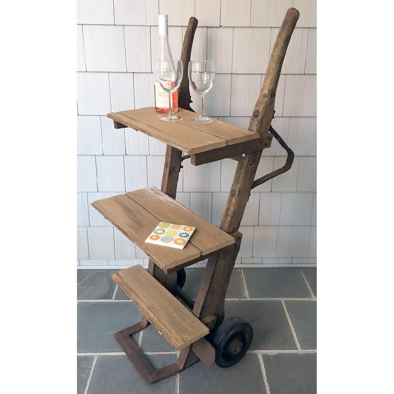 Antique Rustic Bar Cart-0