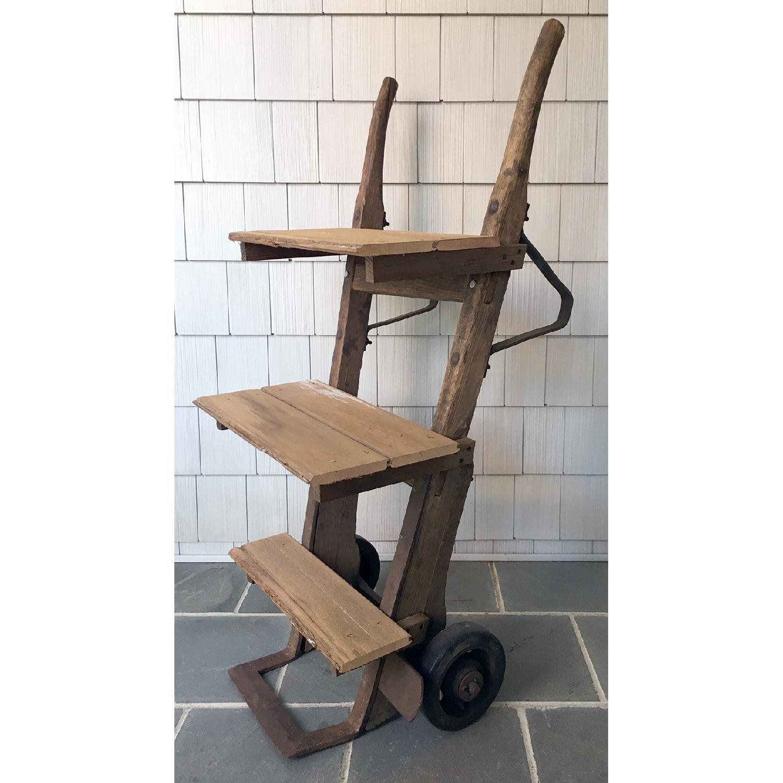 Antique Rustic Bar Cart-1