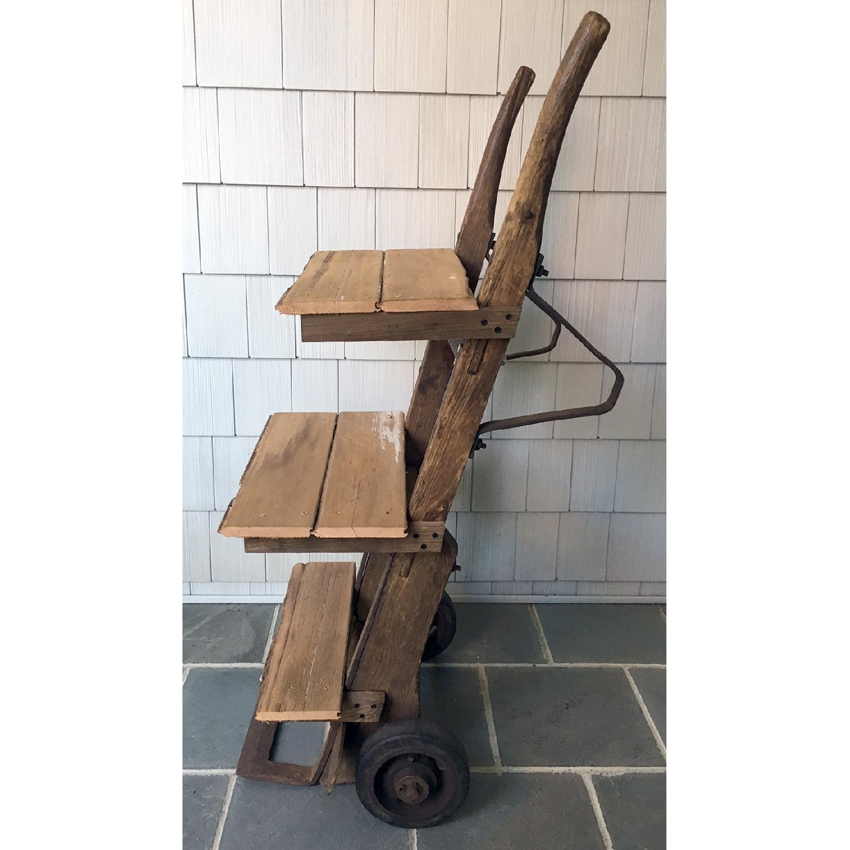 Antique Rustic Bar Cart-2