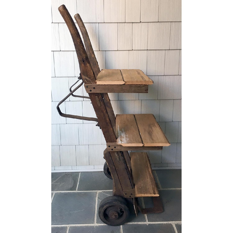 Antique Rustic Bar Cart-3