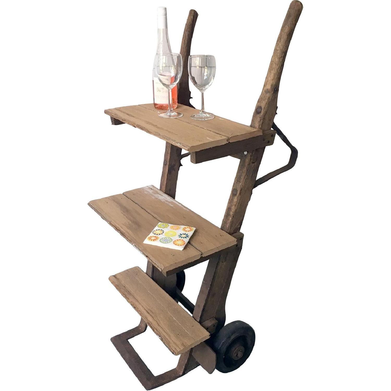 Antique Rustic Bar Cart