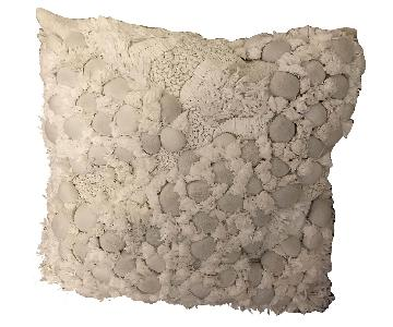West Elm Textured Artisan Straw Linen Pillow