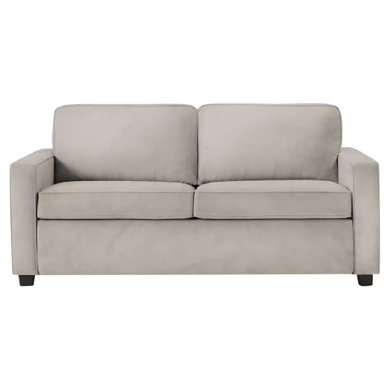 West Elm Light Grey Sleeper Sofa