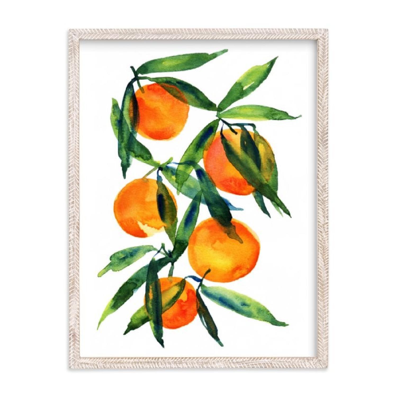 Minted Tangerine Framed Wall Art
