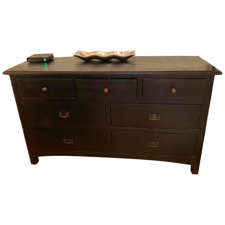 Black Wood Dresser