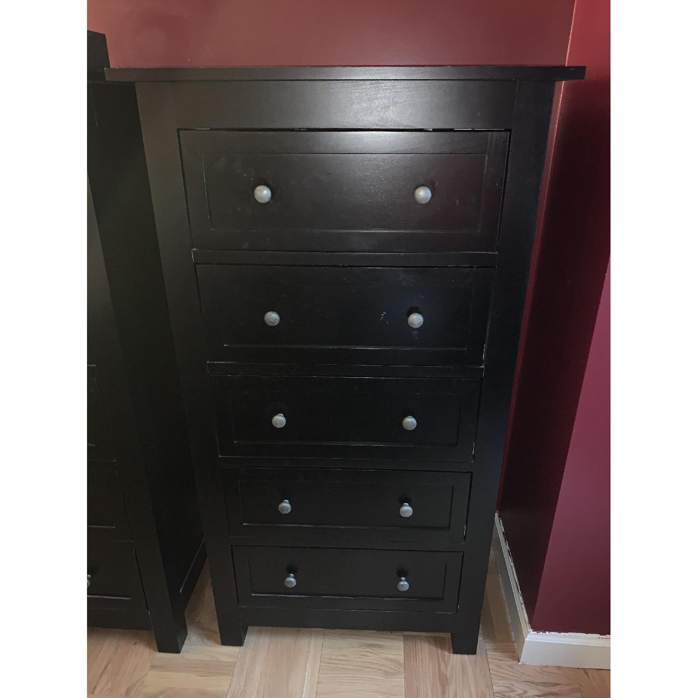 Room & Board Lasalle Black Solid Wood 5-Drawer Dresser-10