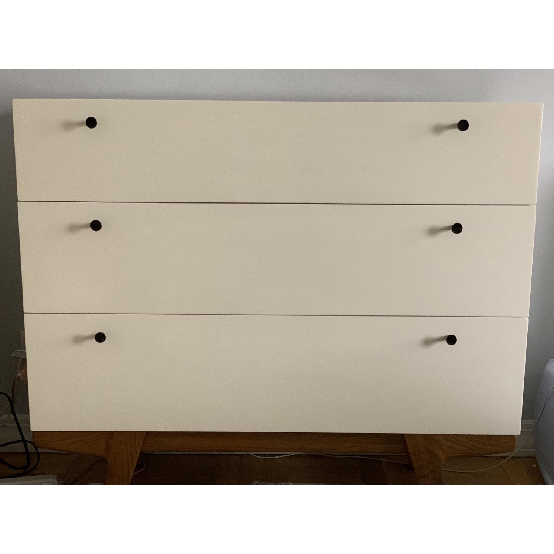 West Elm White Modern 3-Drawer Dresser-1
