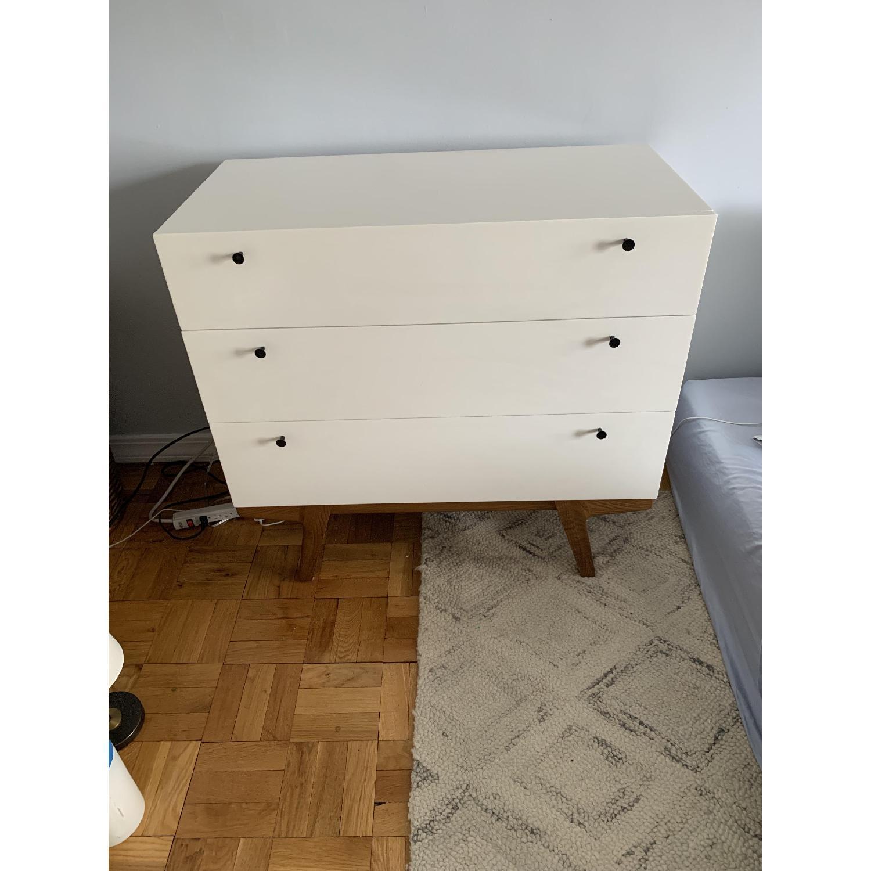 West Elm White Modern 3-Drawer Dresser-2