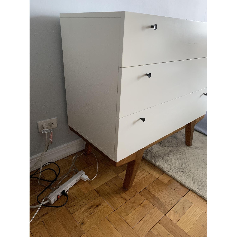 West Elm White Modern 3-Drawer Dresser-4