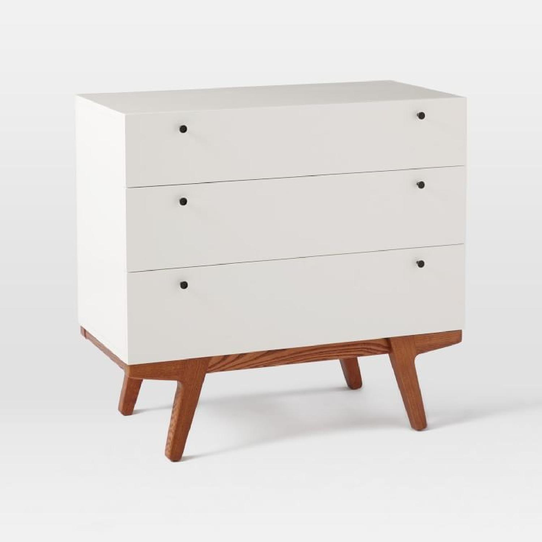 West Elm White Modern 3-Drawer Dresser-5