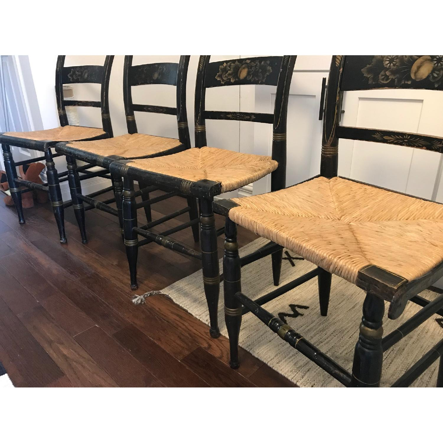 Antique Hitchcock Dining Chairs-1
