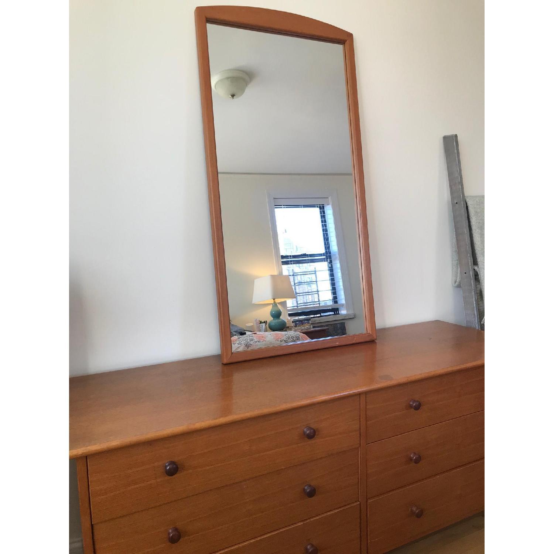 Vintage Teak Scandinavian 6 Drawer Dresser w/ Mirror-1