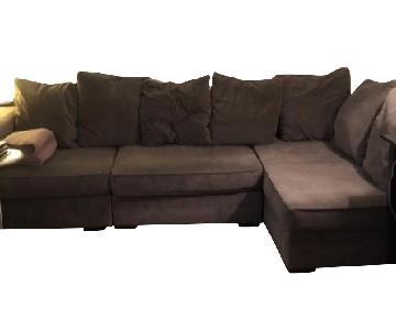 West Elm Walton 3-Piece Chaise Sectional Sofa in Otter