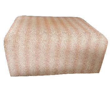 Rowe Square Fabric Ottoman