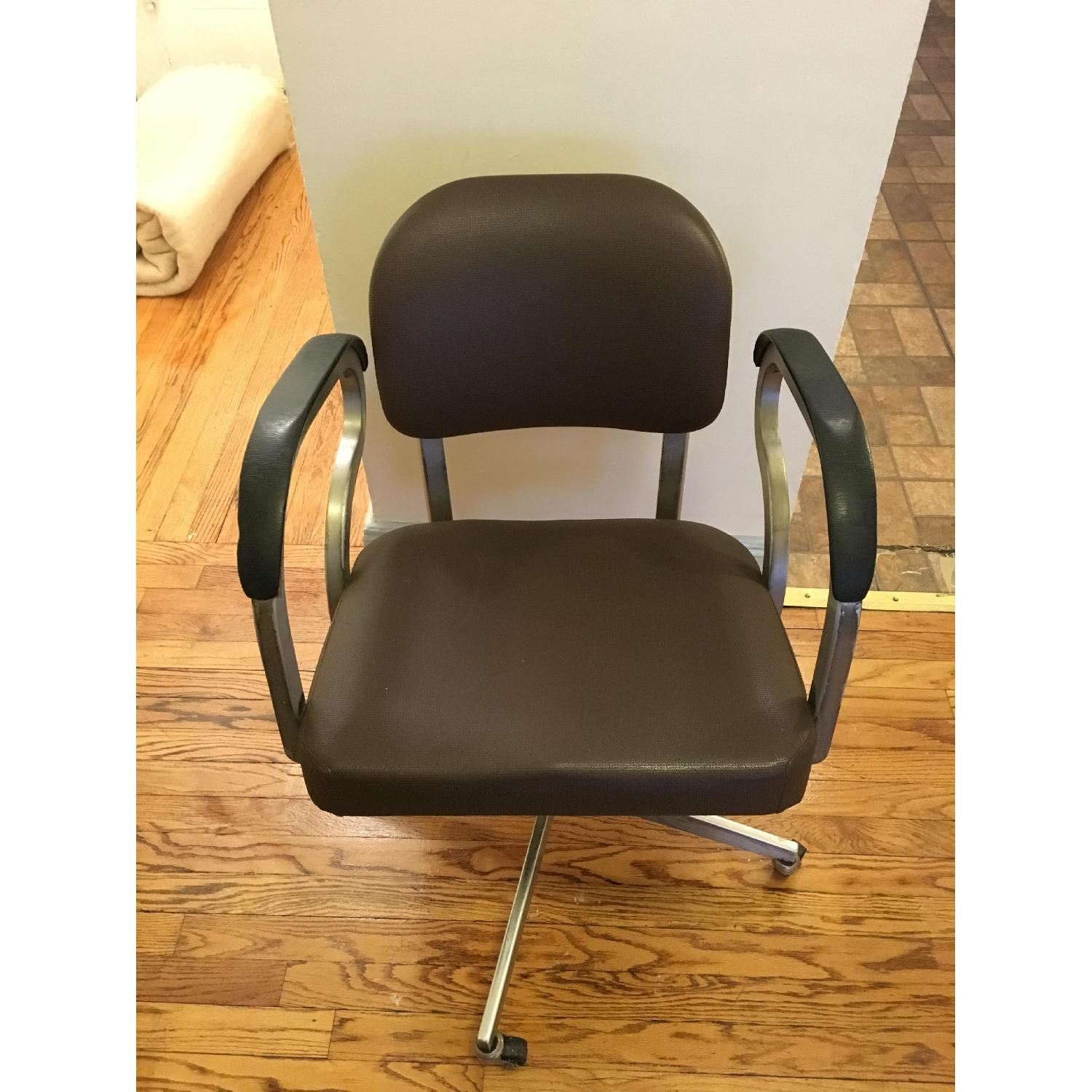 Goodform Vintage Rolling Office Chair w/ Adjustable Height-1