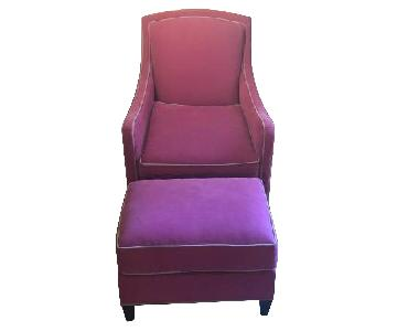 Custom Fuchsia Chair & ottoman