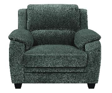 Charcoal Velvet Accent Chair