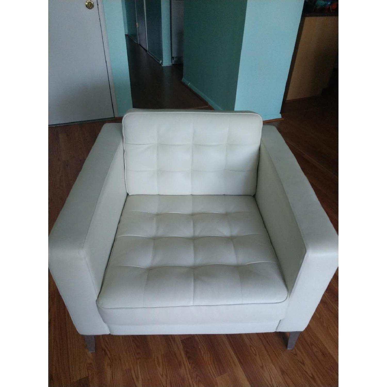 Ikea Landskrona Leather Armchair-0
