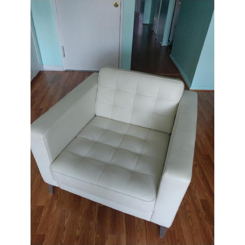 Ikea Landskrona Leather Armchair-1
