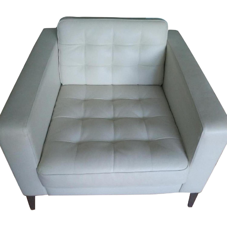 Ikea Landskrona Leather Armchair
