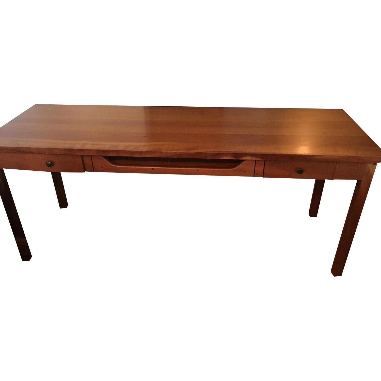 Custom-Built Solid Wood Desk w/ Computer Tray