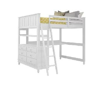 Harriet Bee Javin Full Size Loft Bed w/ Desk