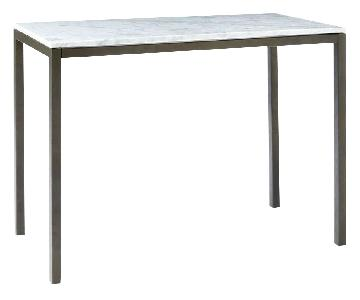 West Elm Box Frame Counter Table w/ Marble Top