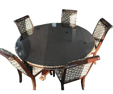 Custom Made Expandable Dining Table w/ 8 Chairs