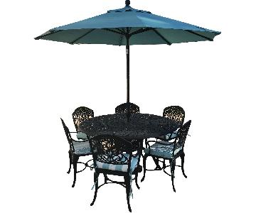 Hanamint Tuscany Patio 9-Piece Dining Set